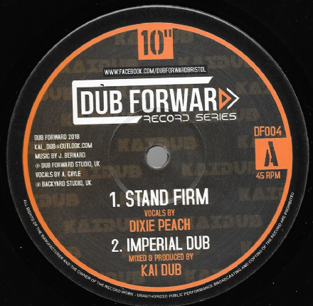 Dixie Peach - Stand Firm /  Dub / Tenna Star - Fight For The Future / Dub (Dub Forward) 10""